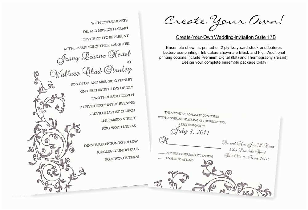 create your own wedding invitations with photo