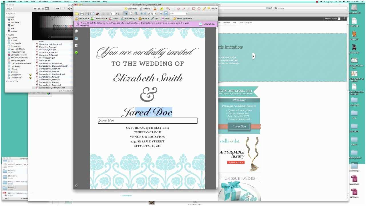 Create Your Own Wedding Invitations Free How to Make Your Own Wedding Invitation Free Template