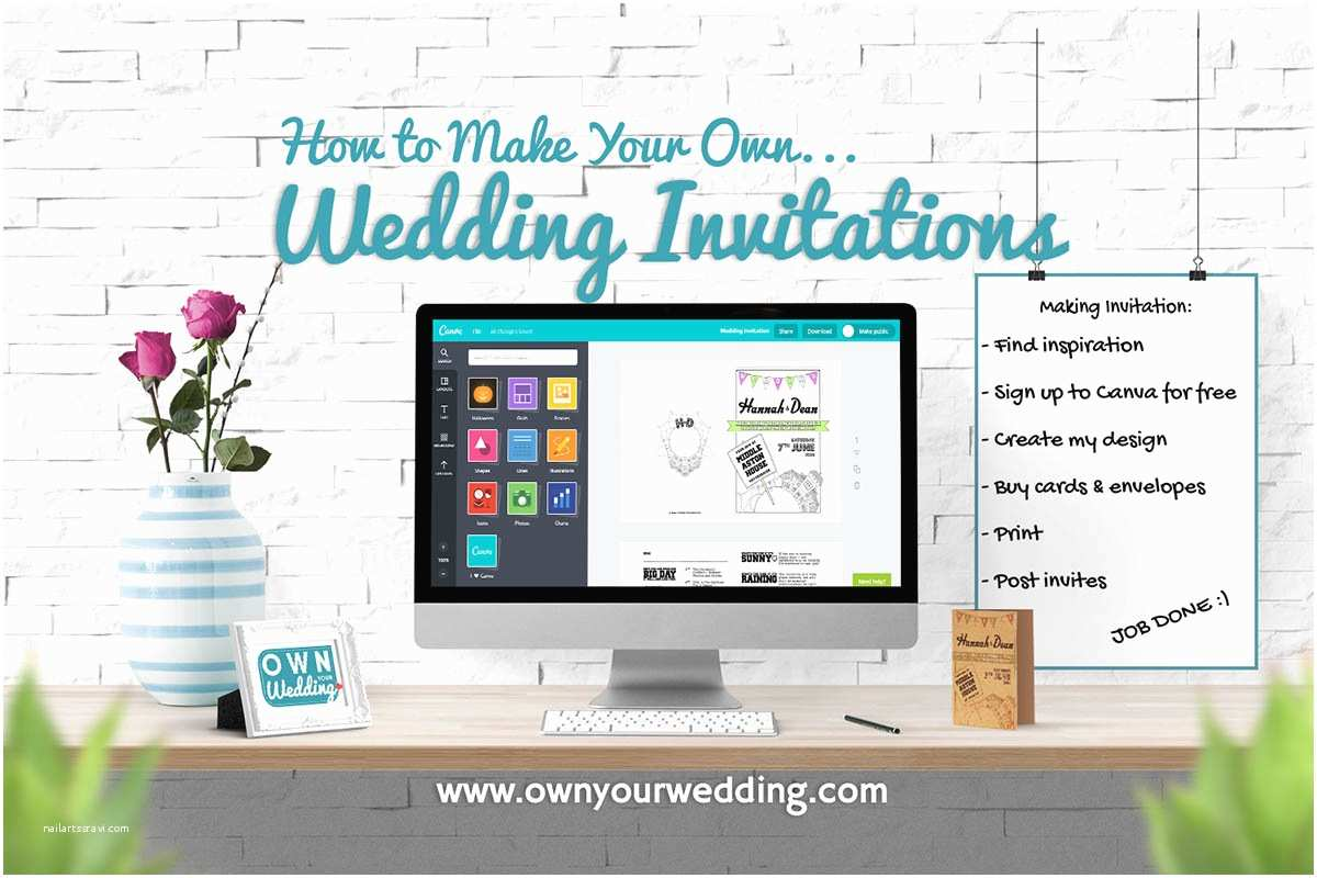 Create Your Own Wedding Invitations How to Make Your Own Wedding Invitations