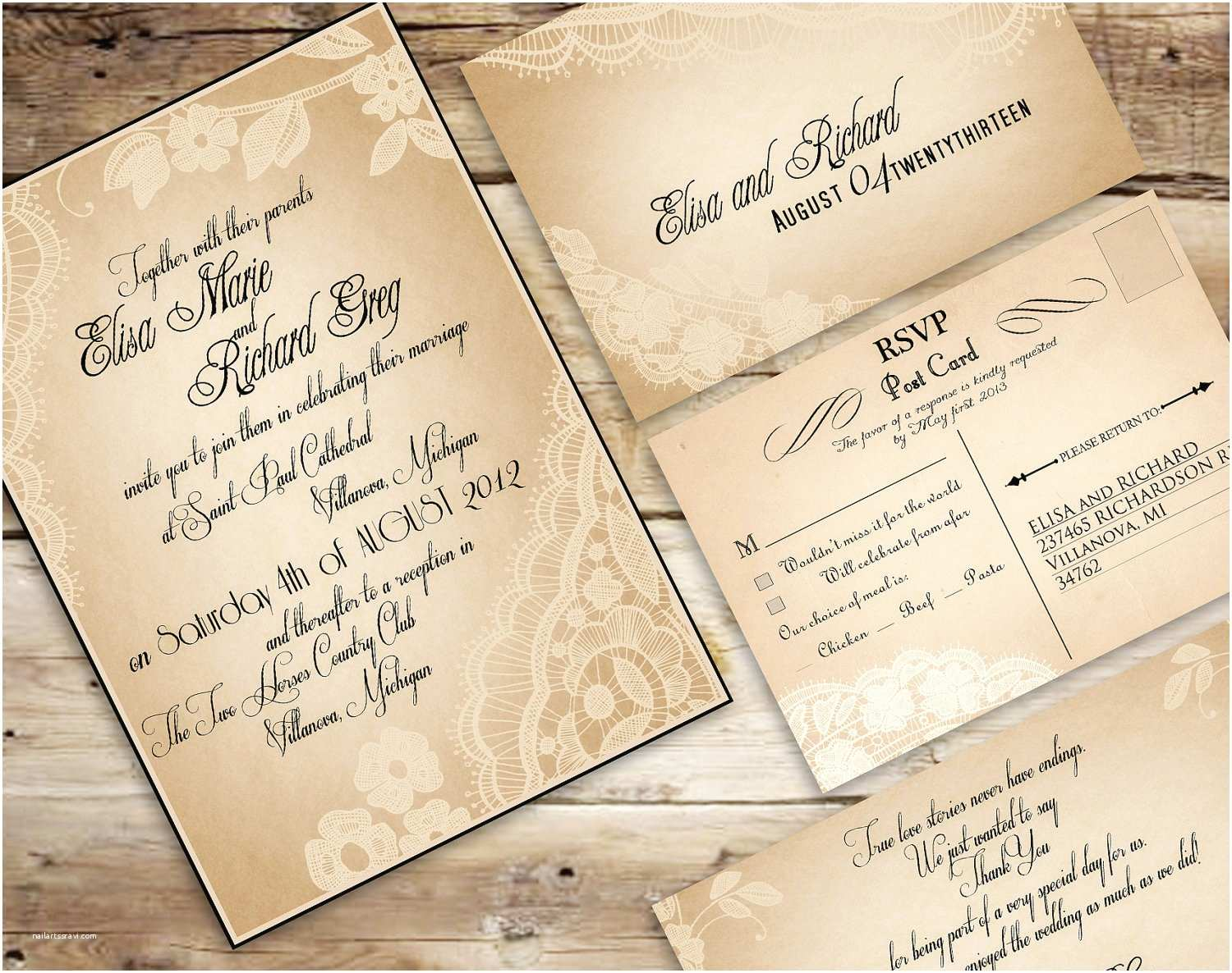 Create Your Own Wedding Invitations Vintage Wedding Invitation Templates