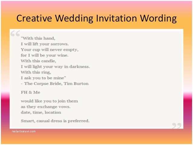 Creative Wedding Invitation Wording Wedding Invitation Friends Cards Wording