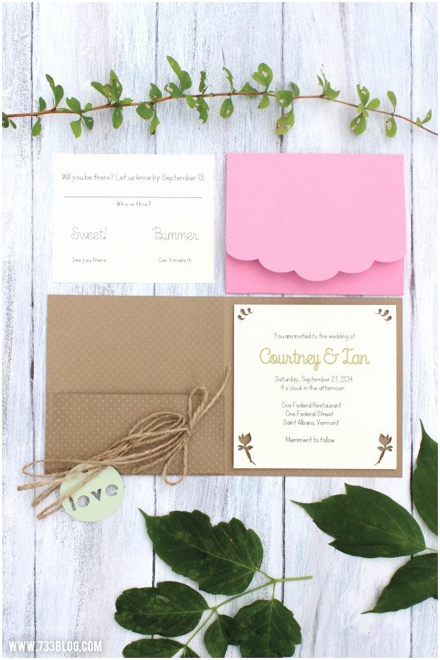 diy rustic wedding invitations