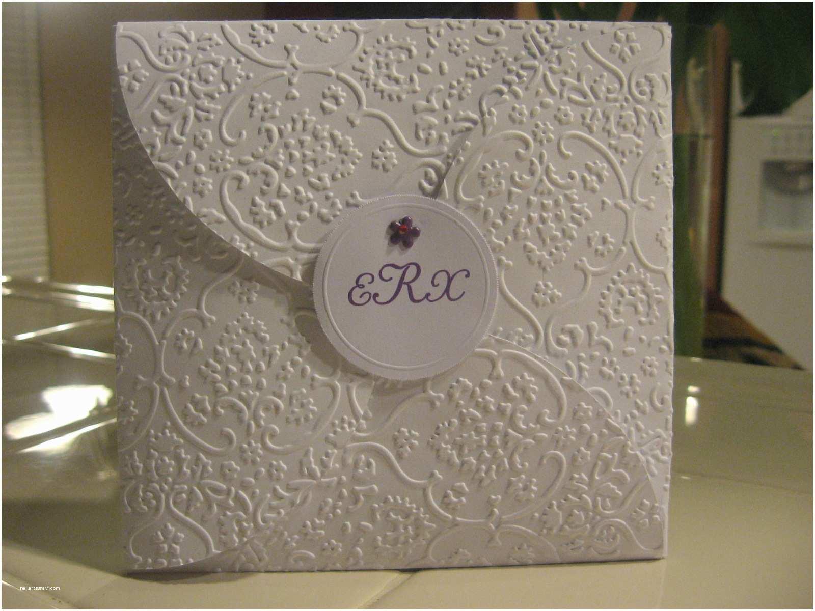Cricut Wedding Invitations Purple Fox Creates Wedding Invite