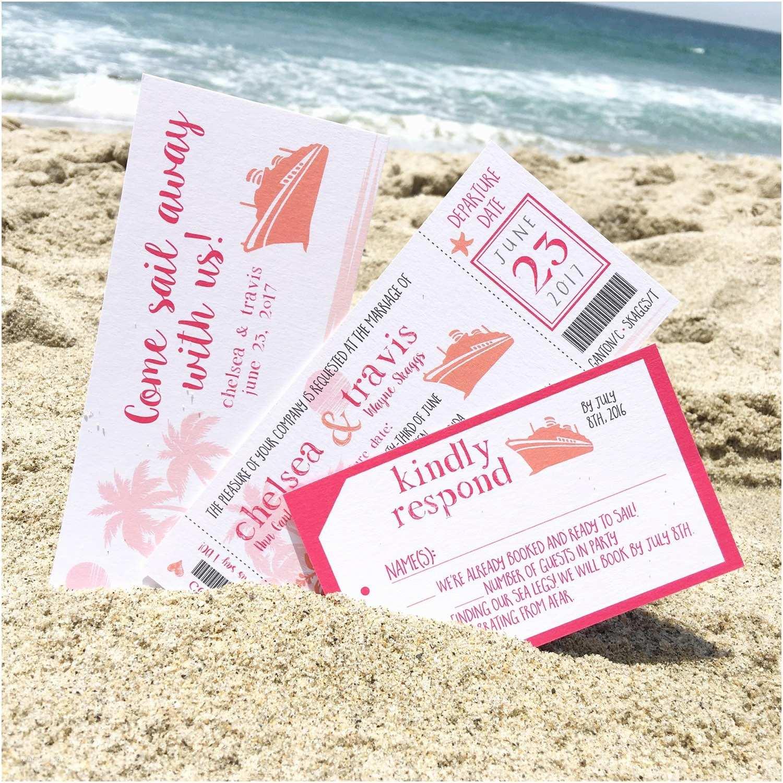 Cruise Wedding Invitations Cruise Ticket Wedding Invitation Boat By