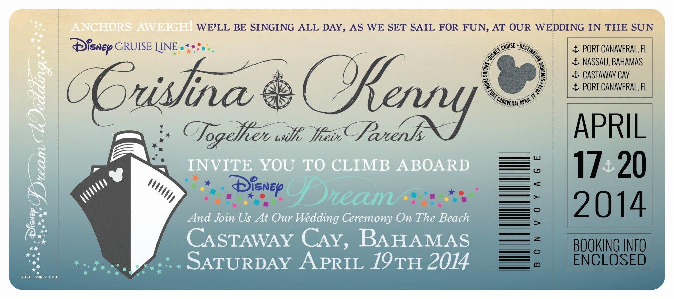 Cruise Wedding Invitations Disney Cruise Wedding Invitations By Great