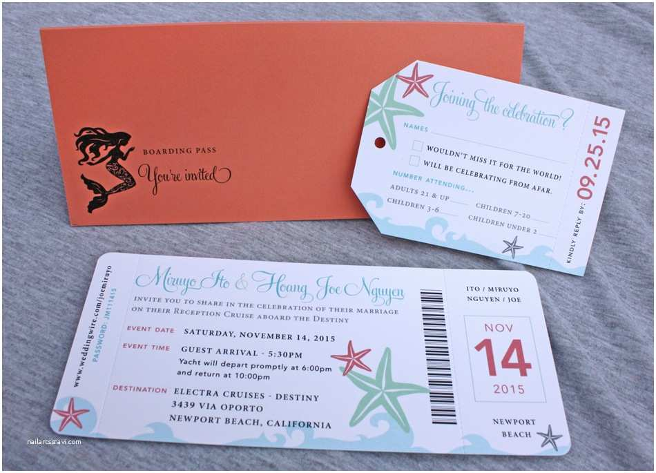 Cruise Wedding Invitations Emdotzee Designs Cary Nc Wedding Invitation