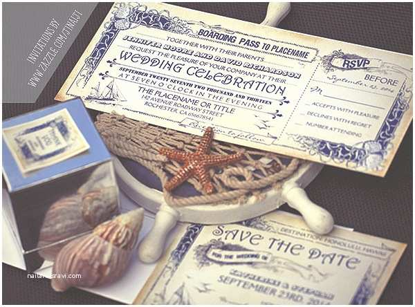 Cruise Wedding Invitations Nautical Boarding Pass Tickets Wedding Invitations –
