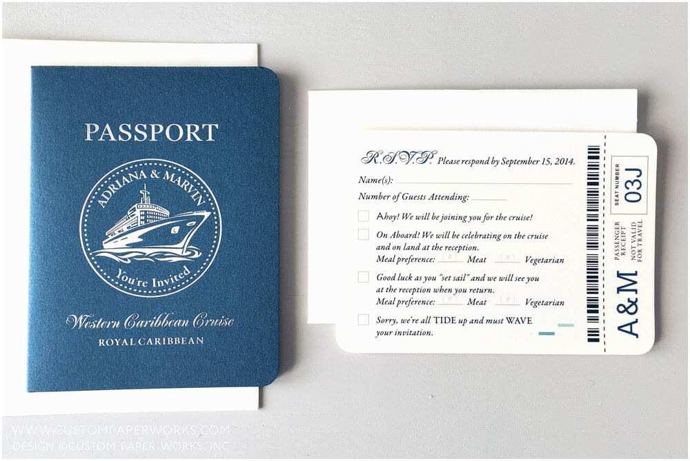 Cruise Wedding Invitations Passport Invitations For A Cruise Ship Wedding –