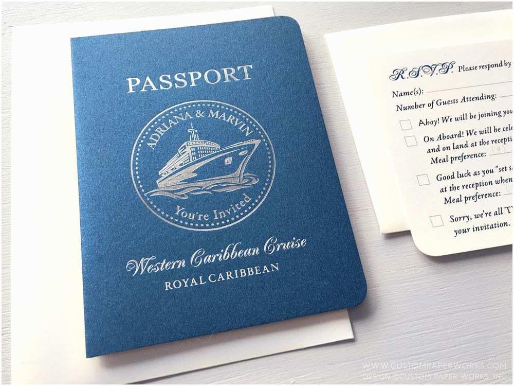 Cruise Wedding Invitations Passport Invitations for A Cruise Ship Wedding – Custom