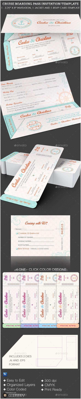 Cruise Wedding Invitations Wedding Cruise Boarding Pass Invitation Template