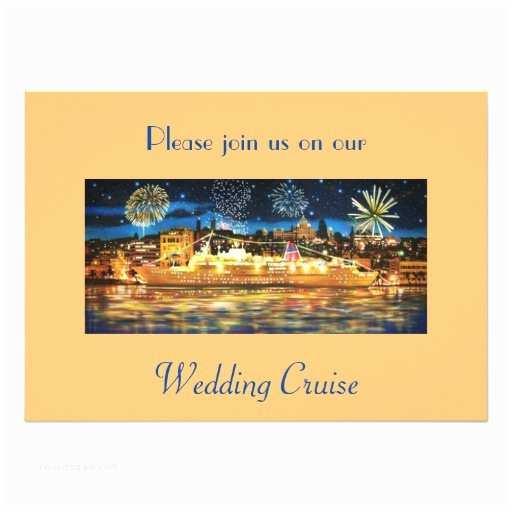 Cruise Wedding Invitations Wedding Cruise Ship Wedding Invitation