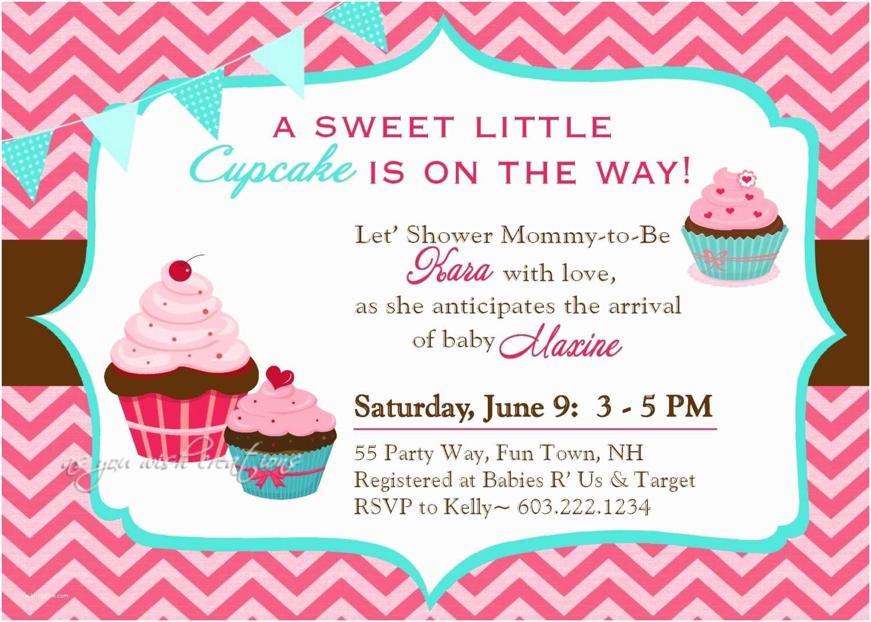 Cupcake Birthday Invitations Cupcake Baby Shower Invitations Template Resume Builder