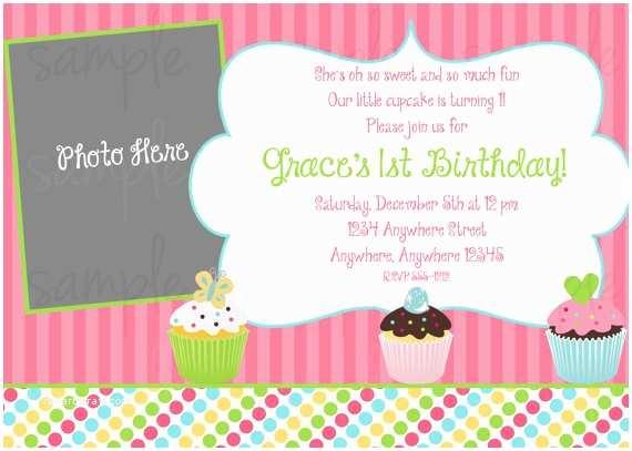 Cupcake Birthday Invitations Cupcake Birthday Invitation