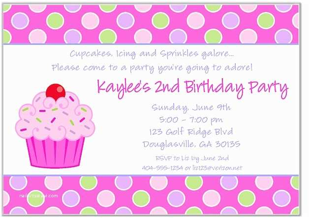 cupcake birthday invitations