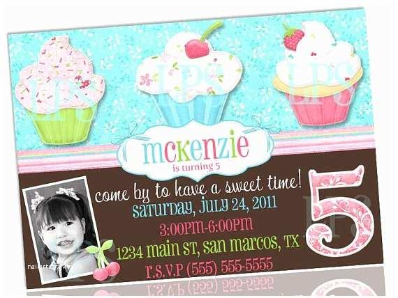 Cupcake Birthday Invitations Cupcake Birthday Party Invitation Printable by Lilypiestudio