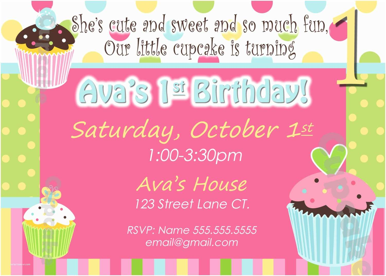 Cupcake Birthday Invitations Cupcake Party Invitations Images