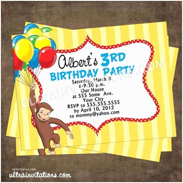 Curious George Birthday Invitations 1000 Images About Birthday Party Ideas On Pinterest