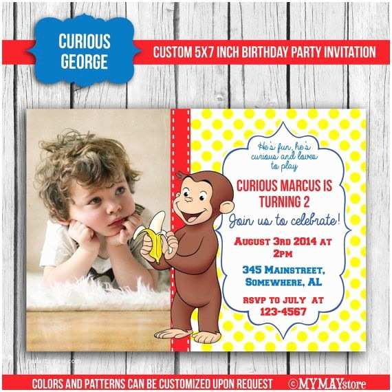 Curious George Birthday Invitations Pinterest Discover and Save Creative Ideas