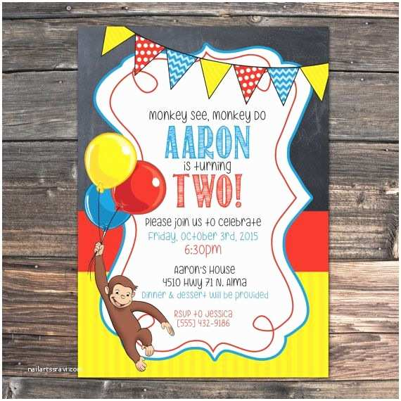 Curious George Party Invitations Best 25 Curious George Party Ideas On Pinterest