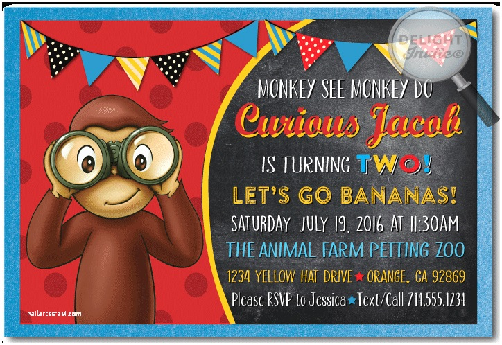 Curious George Party Invitations Curious George Birthday Invitations [di 395] Ministry