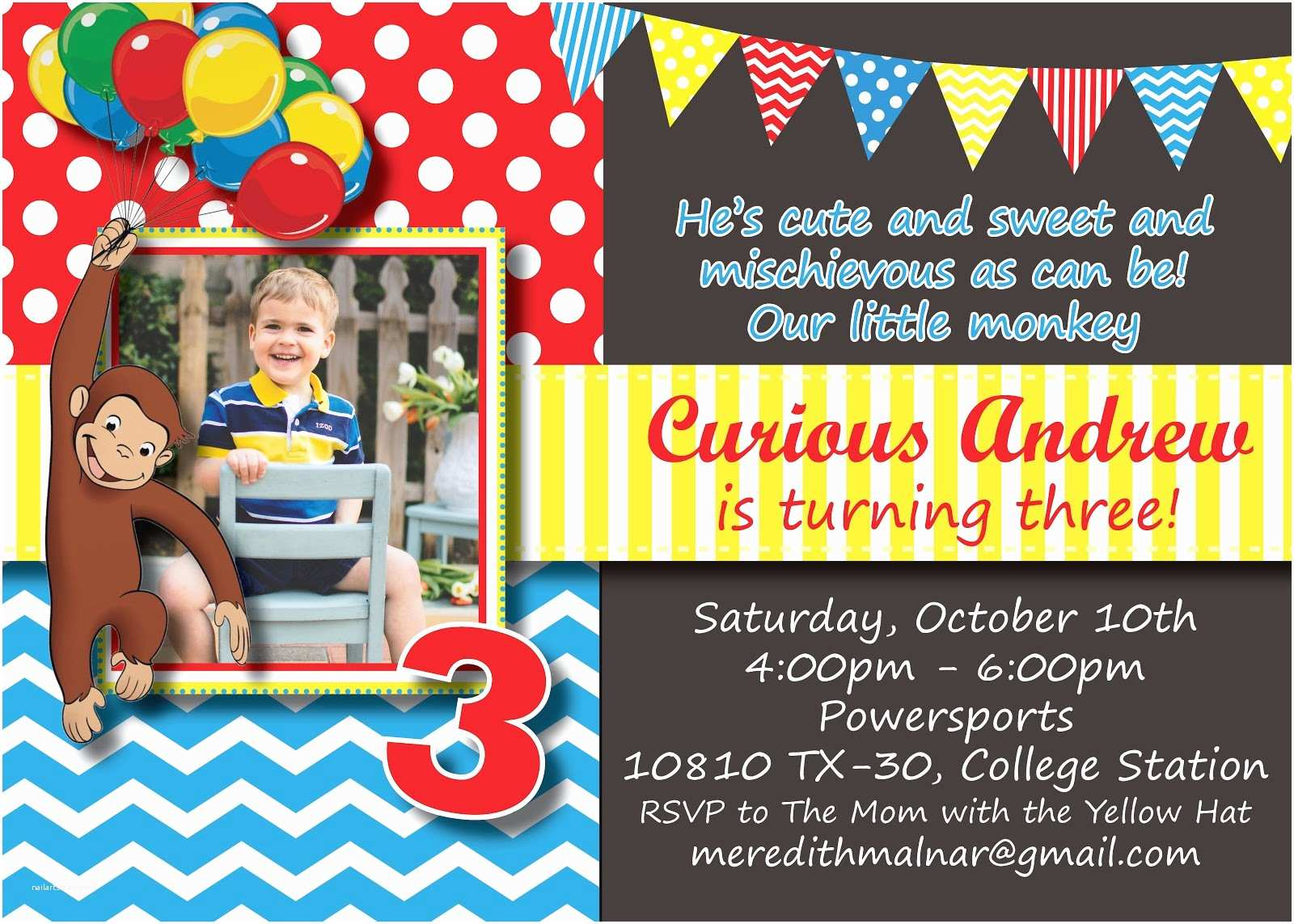 Curious George Party Invitations Curious George Birthday Invitations – Gangcraft
