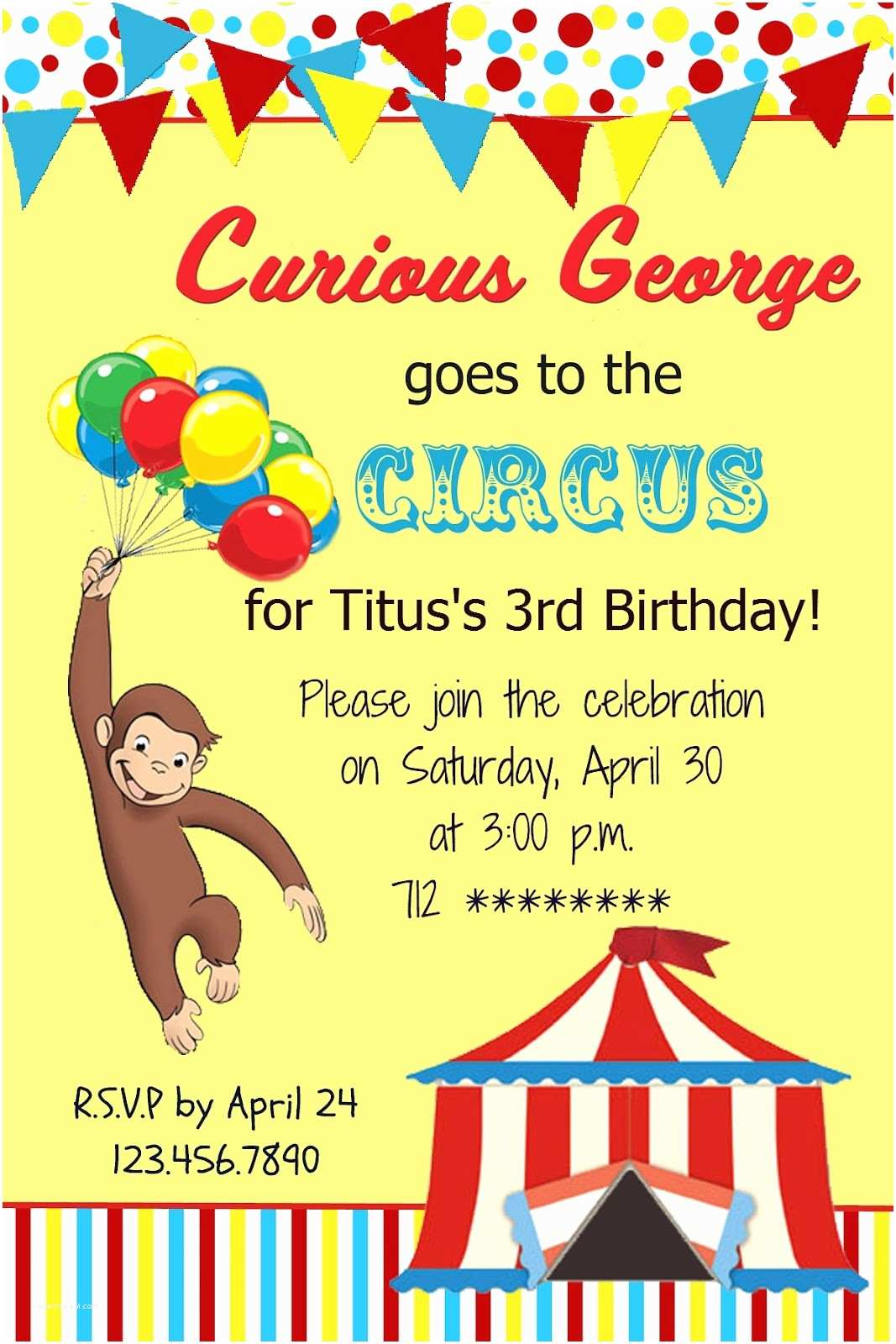 Curious George Party Invitations the Fast Lane ♥ Freebie Friday Curious George