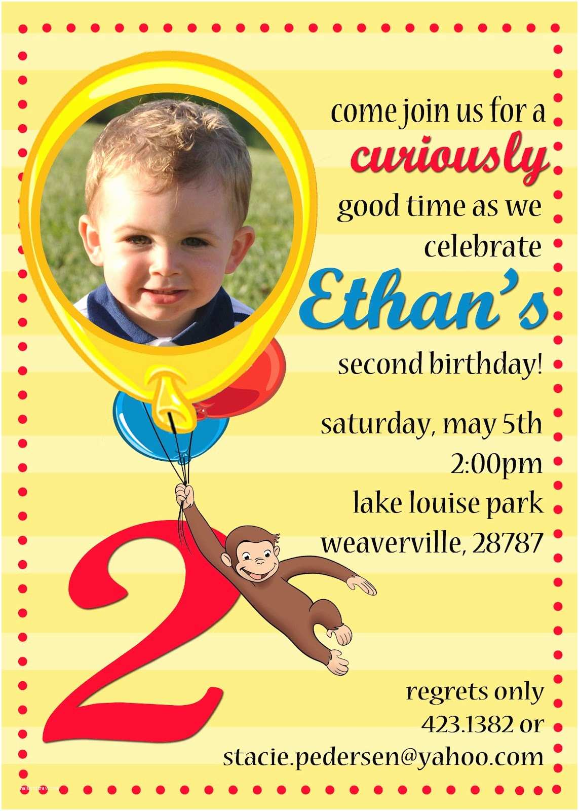 Curious George Party Invitations the Pedersen Family Curious George Party