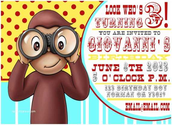 Curious George Party Invitations Unavailable Listing On Etsy