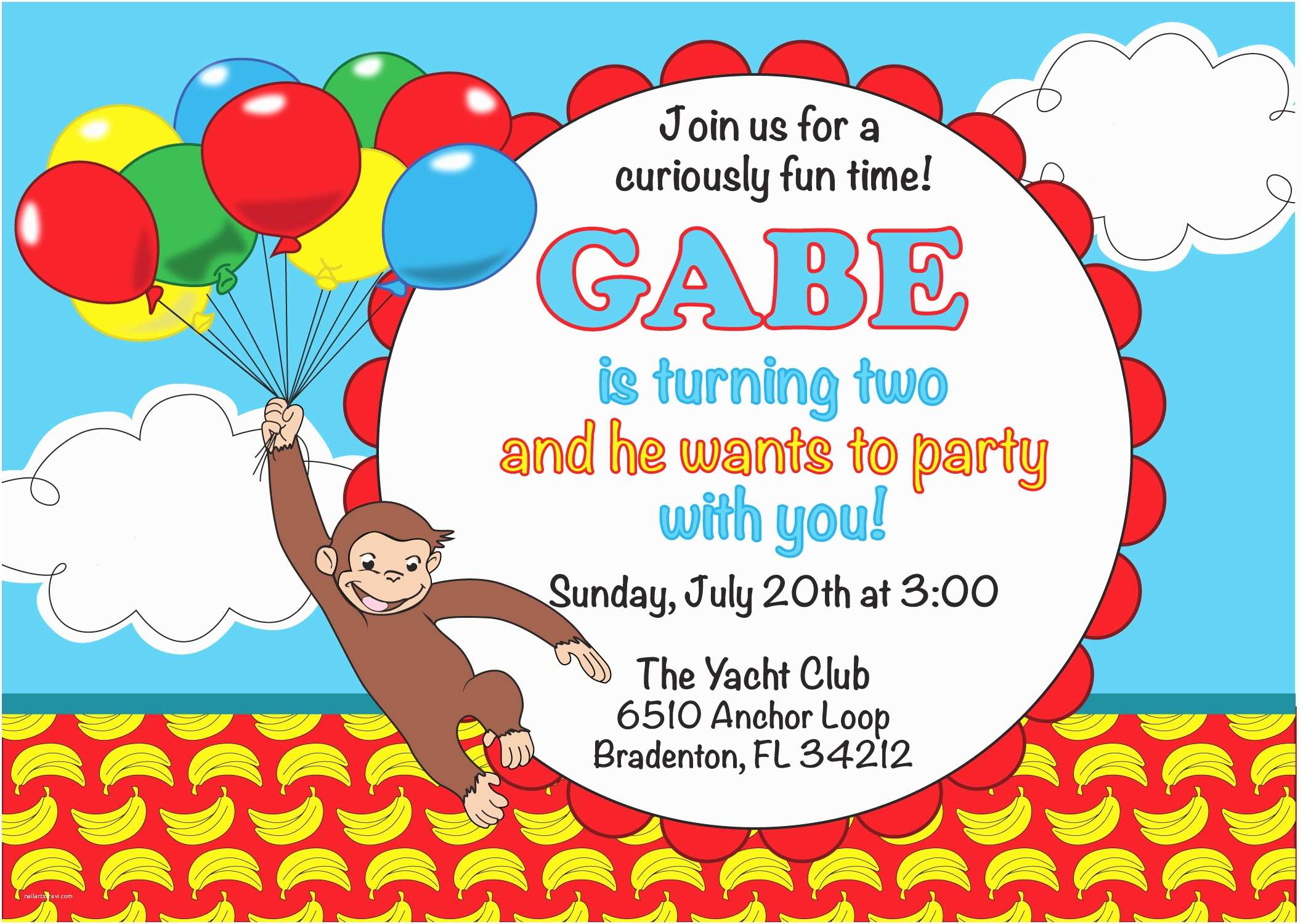 Curious George Party Invitations Unique Ideas for Curious George Birthday Invitations