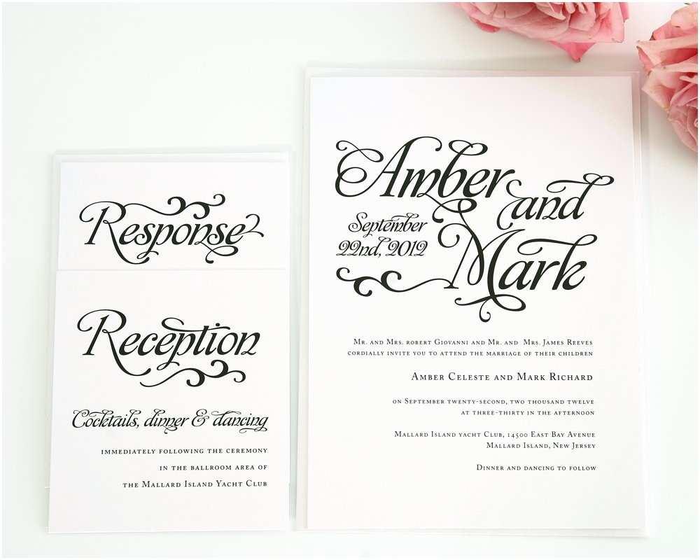 Cursive Wedding Invitations Alluring Script Wedding Invitations Wedding Invitations