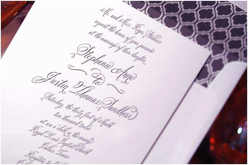 Cursive Wedding Invitations Cursive Font Belluccia On Wedding Invitation