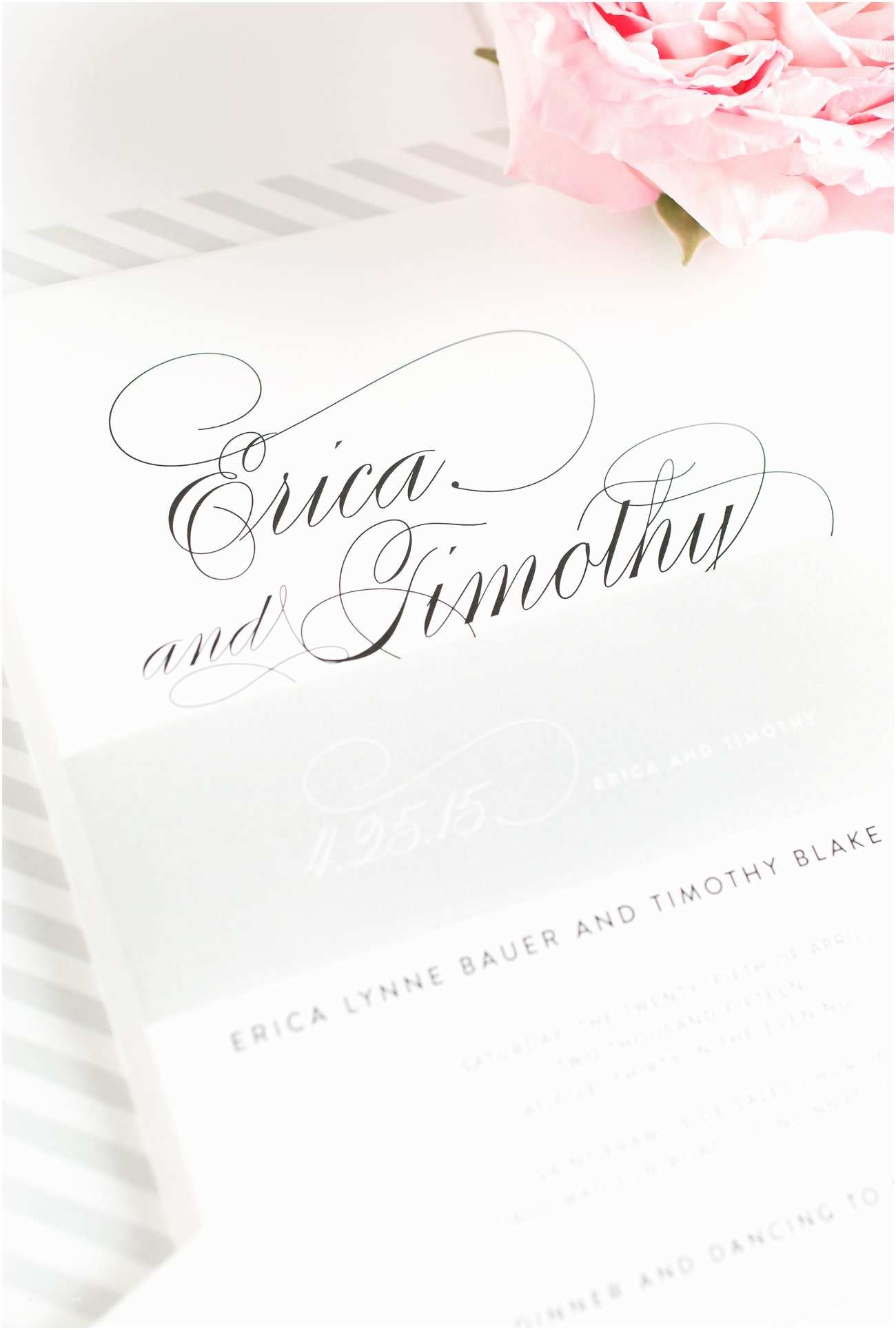 Cursive Wedding Invitations Elegant Script Wedding Invitations In Silver – Wedding