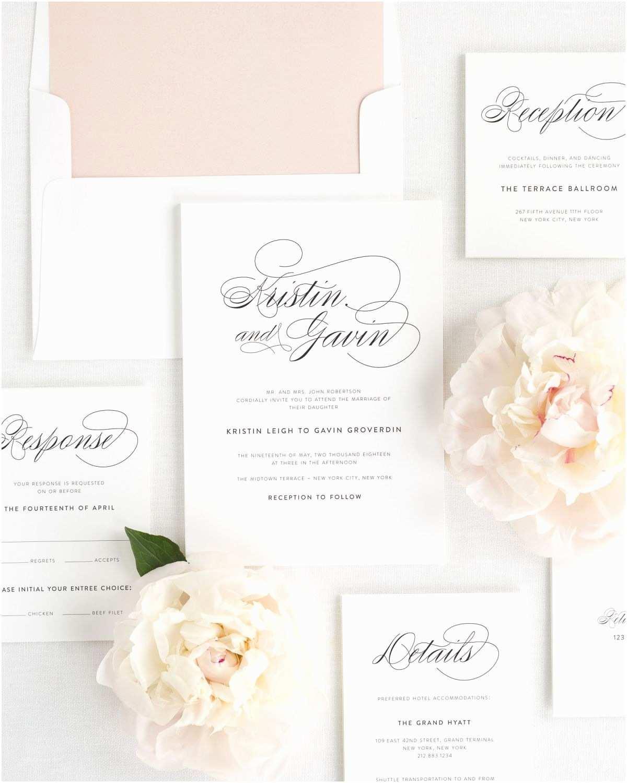Cursive Wedding Invitations Script Elegance Wedding Invitations Wedding Invitations