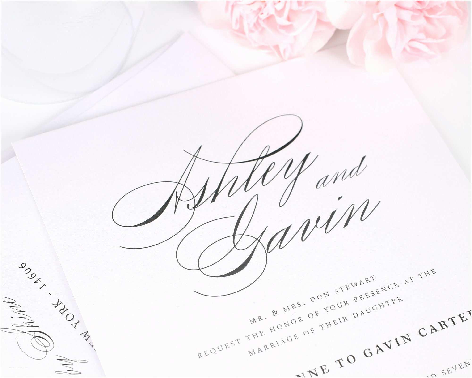 Cursive Wedding Invitations Timeless Script Wedding Invitations Wedding Invitations