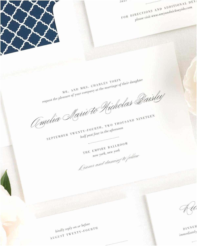 Cursive Wedding Invitations Upscale Script Wedding Invitations Wedding Invitations