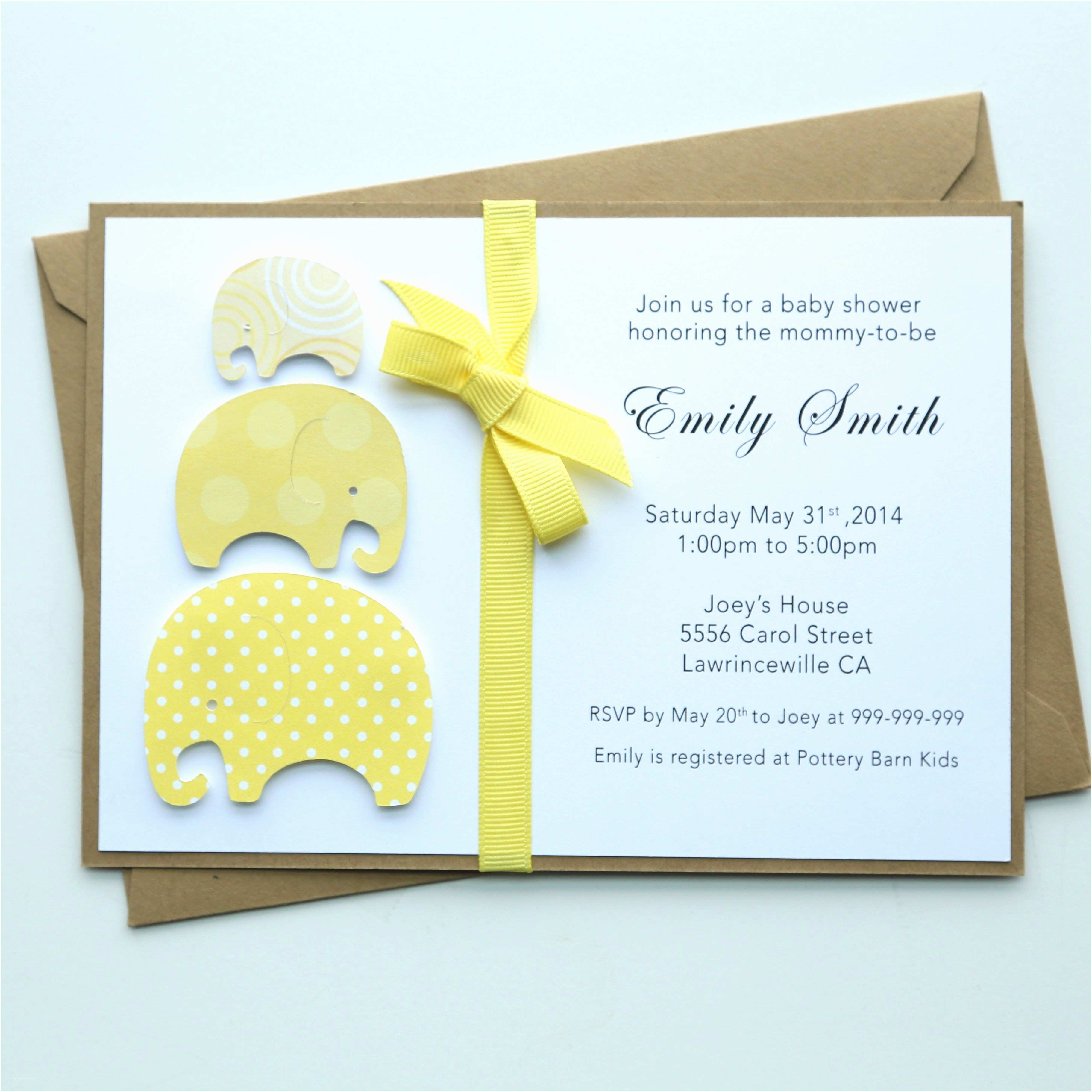 Custom Baby Shower Invitations Handmade Baby Shower Invitation