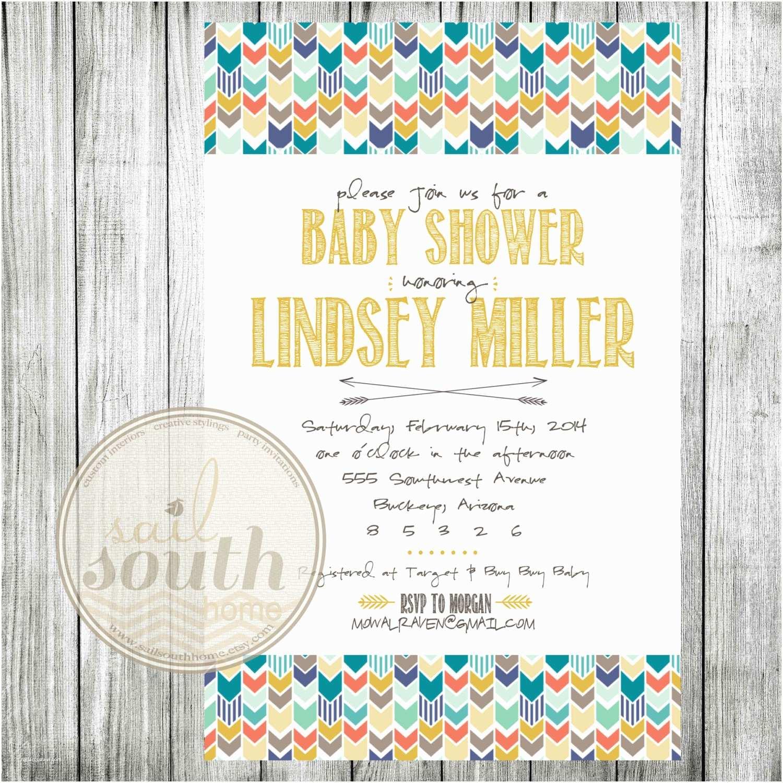 Custom Baby Shower Invitations Tribal Baby Shower Invitation Custom Baby Shower Invitation