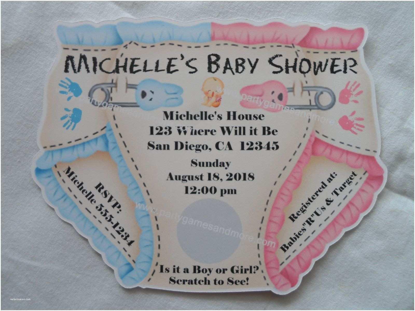 Custom Baby Shower Invitations Unique Personalized Baby Shower Diaper Invitations Twins