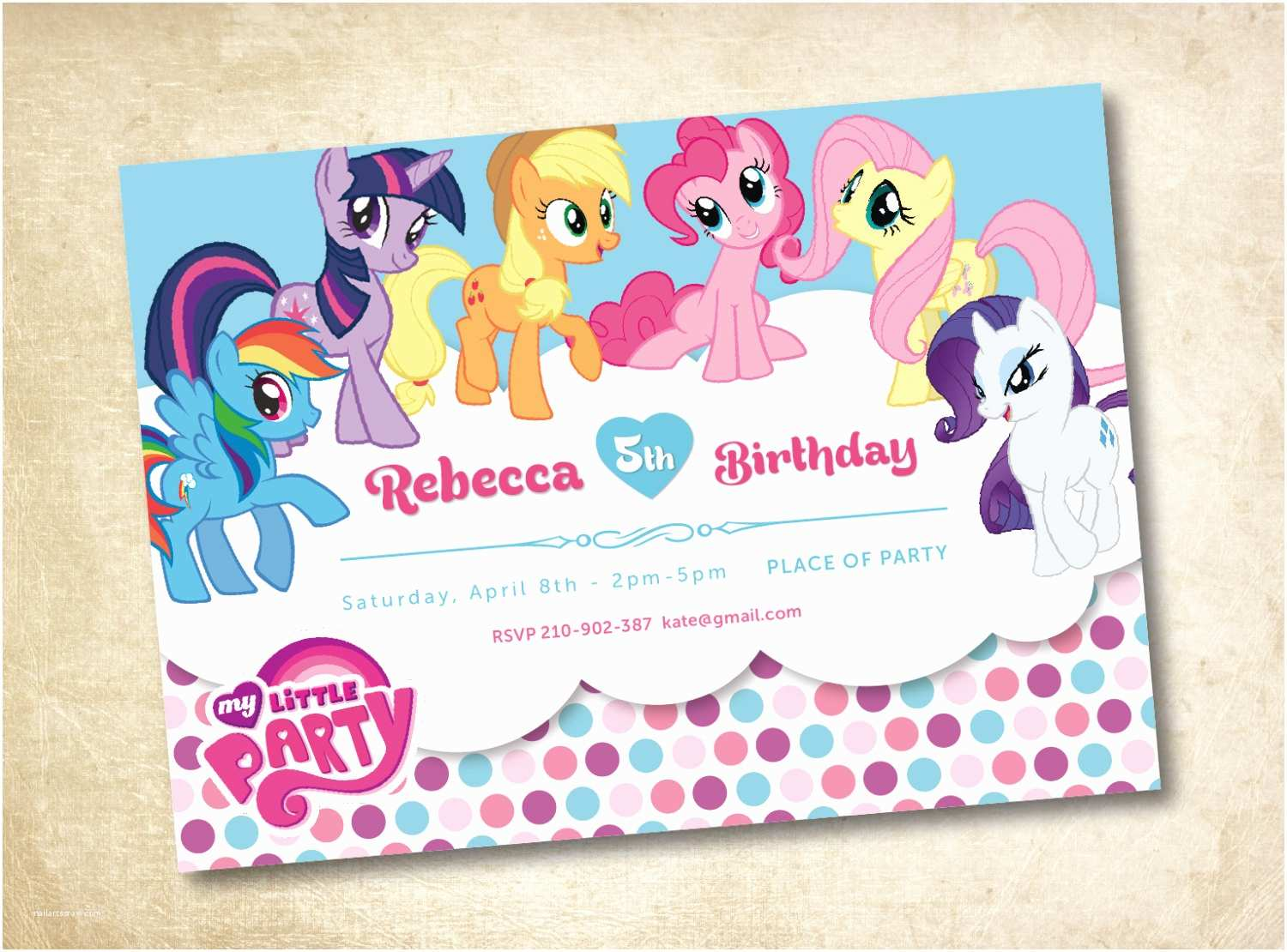 Custom Birthday Invitations Custom My Little Pony Birthday Invitations – Amazing