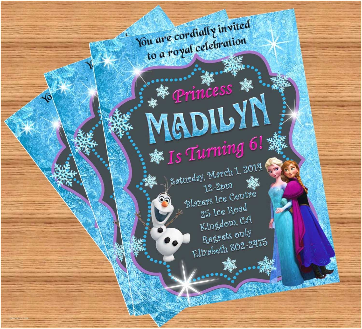 Custom Birthday Invitations Frozen Birthday Invitation Custom Invitation