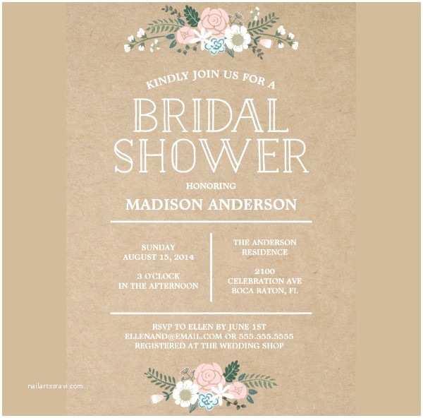 Custom Bridal Shower Invitations 40 Bridal Shower Invitation Examples