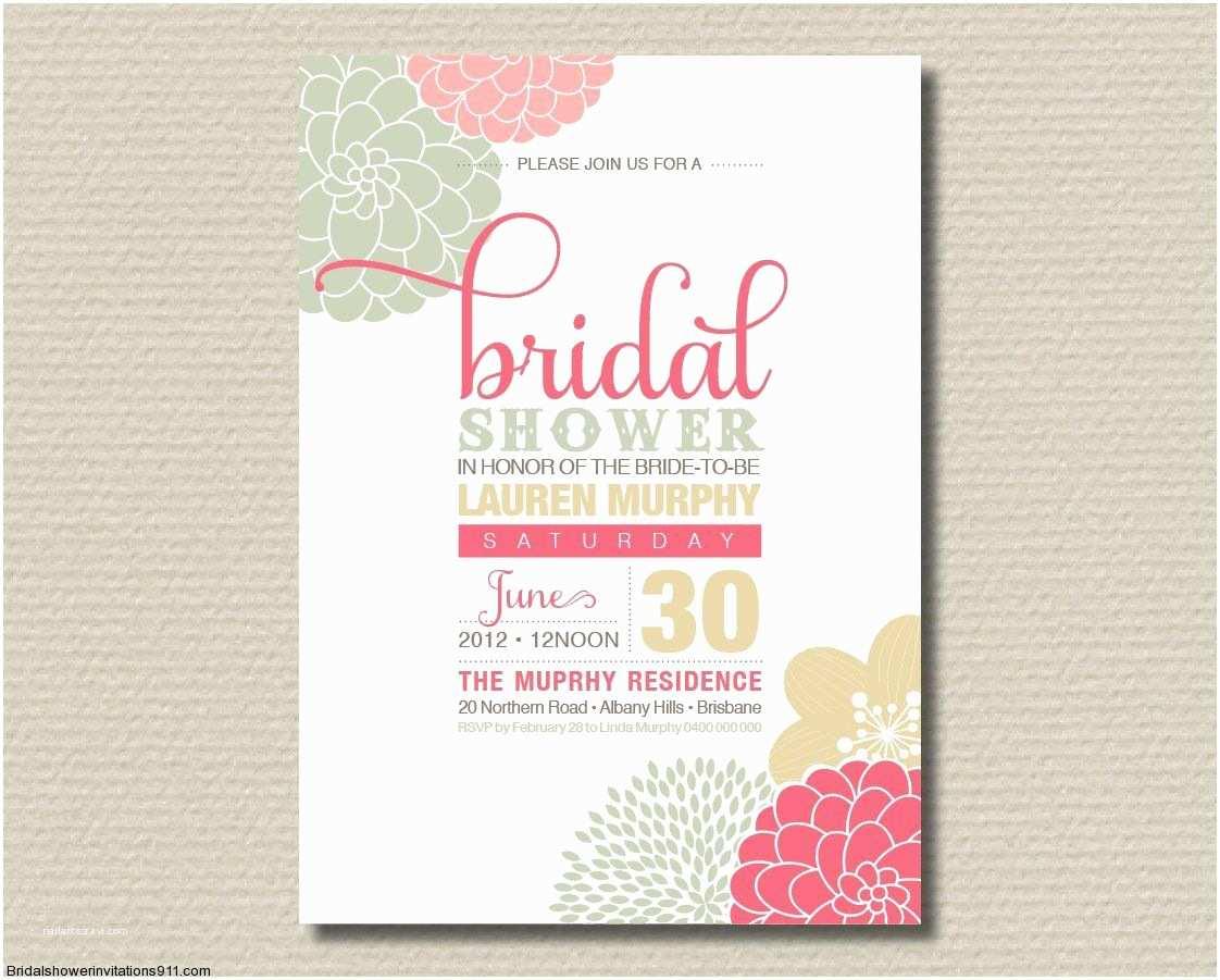 Custom Bridal Shower Invitations Bridal Shower Invitation Wording for Shipping Ts