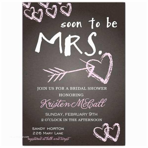 Custom Bridal Shower Invitations Chalkboard Love Bridal Shower Invitations
