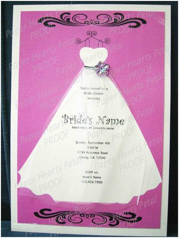 Custom Bridal Shower Invitations Custom Bridal Shower Invitation with Veil Made to order In