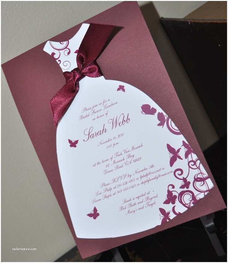 Custom Bridal Shower Invitations Elegant Bridal Shower Invitations Handmade Ideas