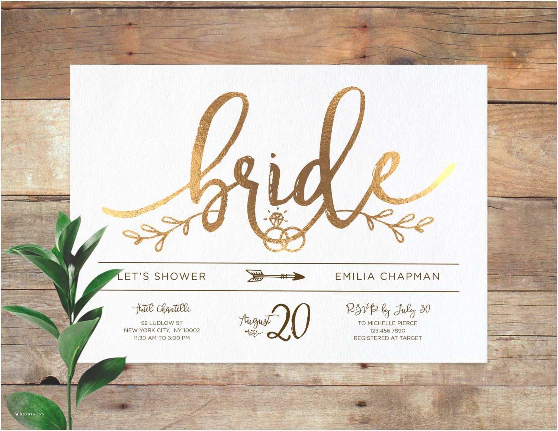 Custom Bridal Shower Invitations Emilia Bridal Printable Bridal Shower Invitation Shower