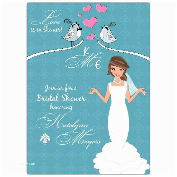 Custom Bridal Shower Invitations Lovebirds Bridal Shower Invitations