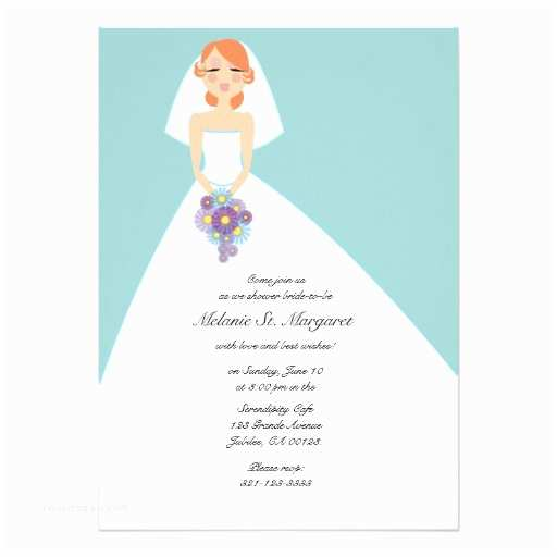 Custom Bridal Shower Invitations Modern Bride Custom Bridal Shower Invitation