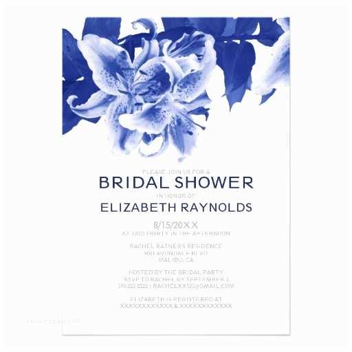 Custom Bridal Shower Invitations Navy Blue Flower Bridal Shower Invitations Custom