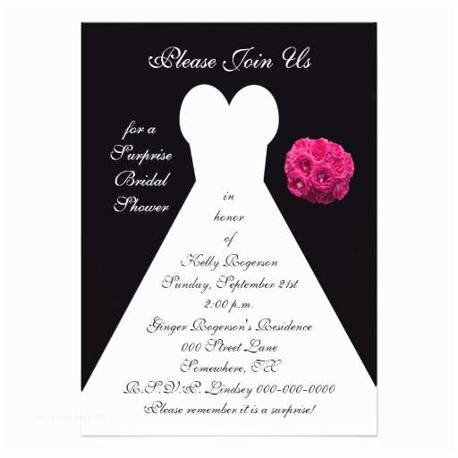 "Custom Bridal Shower Invitations Surprise Bridal Shower Invitation 5"" X 7"" Invitation Card"